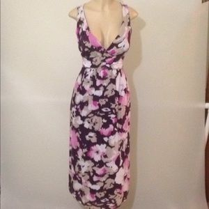 Old Navy purple and pink  floral maxi dress Sz 10